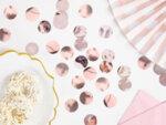 Конфети в розово злато
