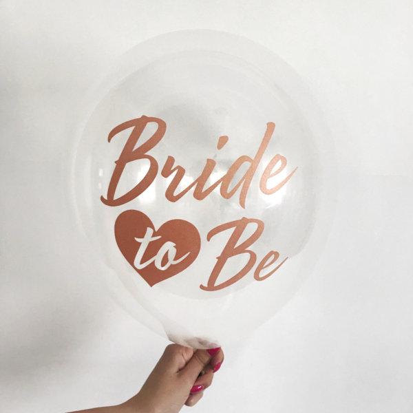 Страхотни прозрачни балони с надпис Bride To Be