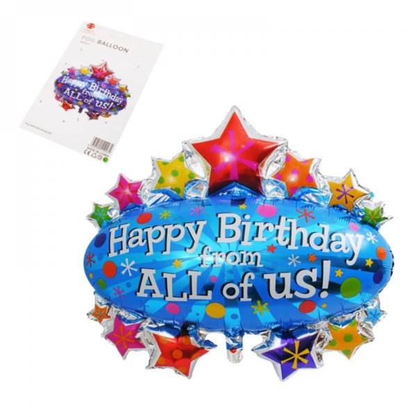 Страхотен балон за рожден ден - Happy Birthday