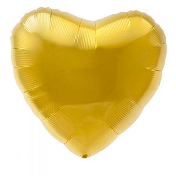 "Голям Златен Балон ""Сърце"" - 45 см"