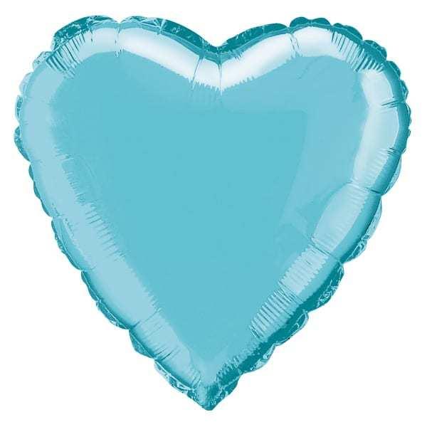 """Голям  Балон """"Сърце"""" - 45 см в синьо"""