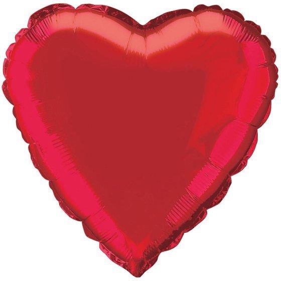 """Голям Червен Балон """"Сърце"""" - 45 см"""