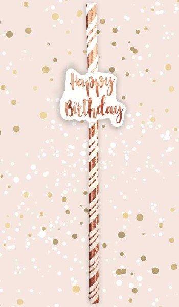 Сламки - Happy Birthday - 6 броя