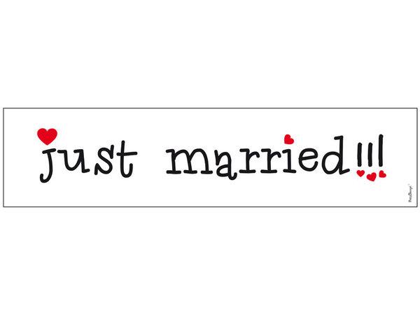 Сватбени табели за кола Just Married