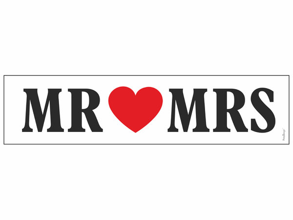 Сватбени табели за кола MR and MRS