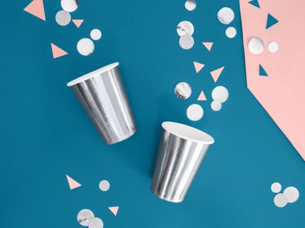 Сребърни  Картонени чаши