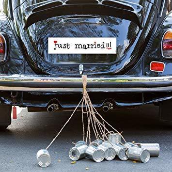 Сватбени тенекиени  кутии - сребро