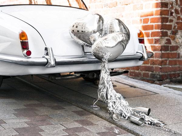 Декорация за Сватбена Кола - Сребро