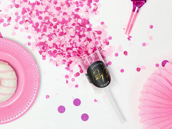 """Парти конфети """"PUSH POP""""  в розово"""
