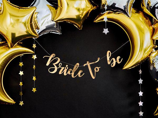 """Златен Банер """"BRIDE TO BE"""""""