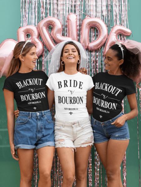"""Тениски за моминско парти """" BOURBON TEAM"""""""