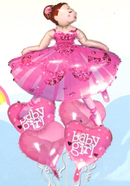 """Балони """" Baby Girl"""" - 5 броя"""