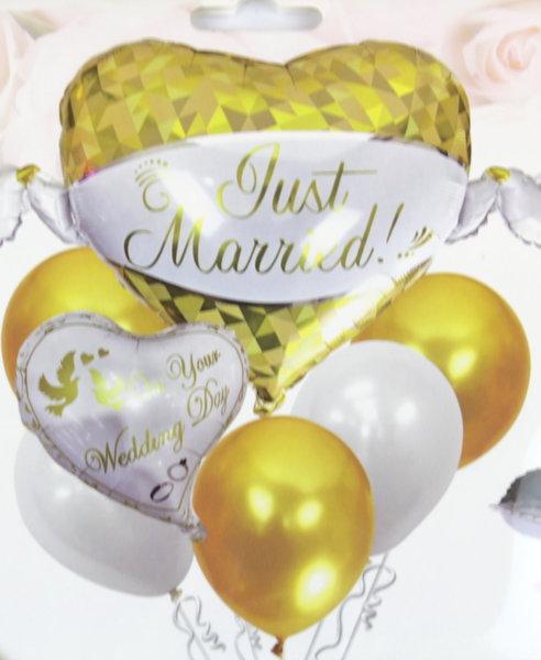 Луксозни Сватбени балони в златно