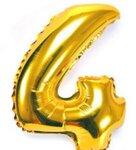 Фолиеви Балони Цифри - Златни