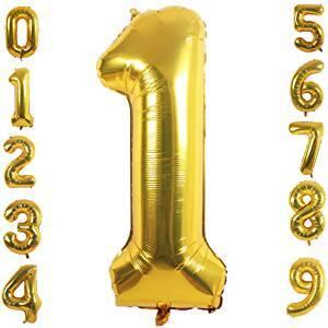 Фолиев Балон Цифра в златен цвят от 0 до 9