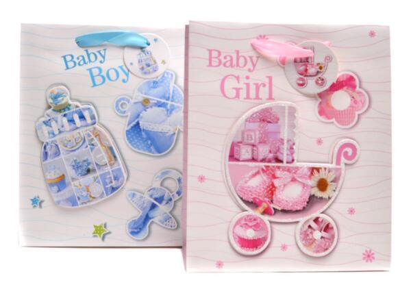 Подаръчни торбички 3D - BABY BOY  и  BABY GIRL