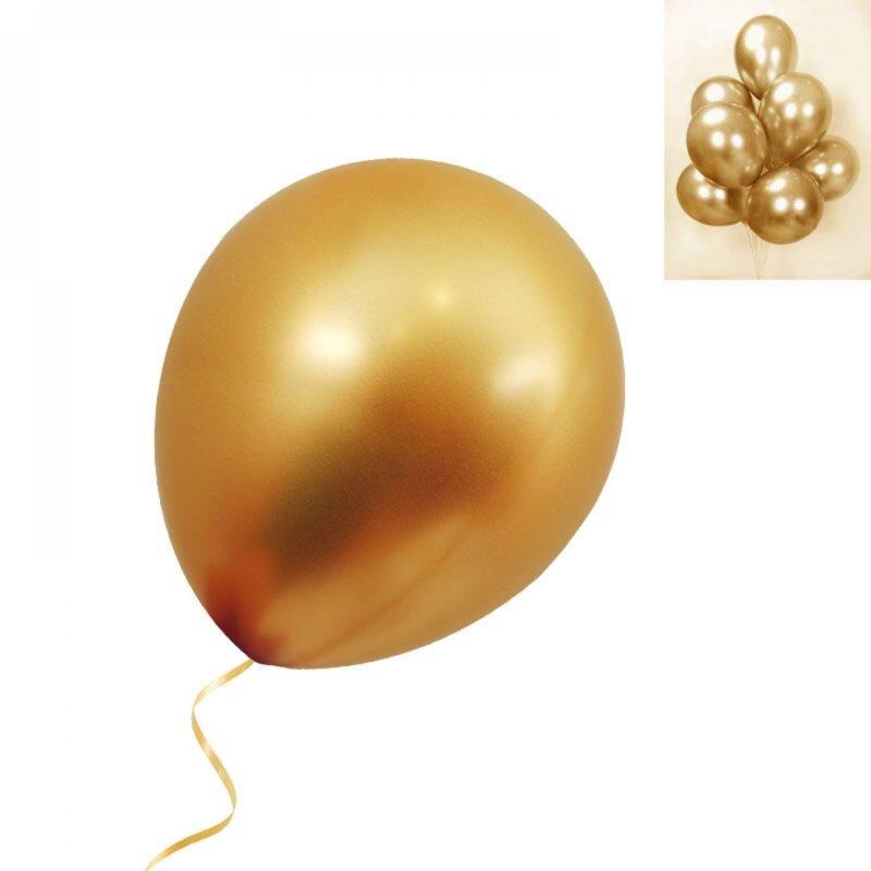 Балони хром в лилаво - 10 броя-Copy