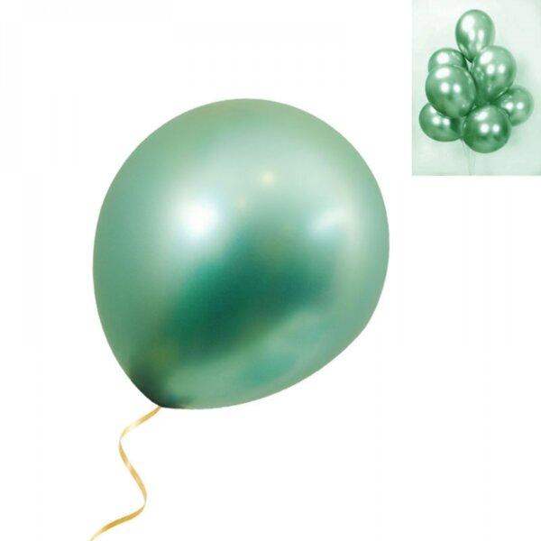 Балони хром в зелено - 5 броя