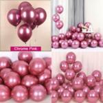 Балони хром в розово злато - 5 броя