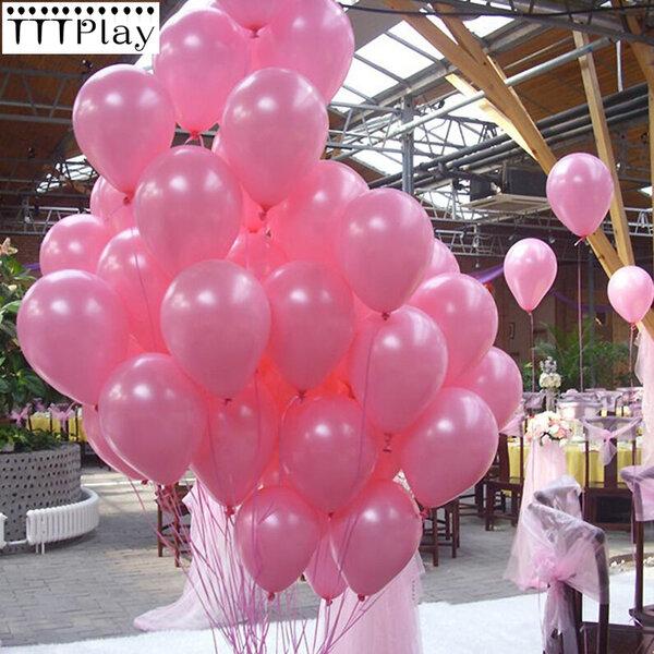 Балони металик в розово - 50 броя