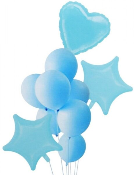 Комплект Балони Макарон - 10 броя в синьо