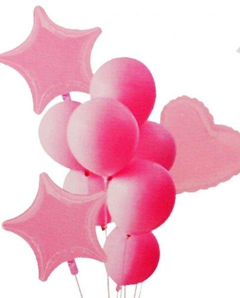 Комплект Балони Макарон - 10 броя в розово