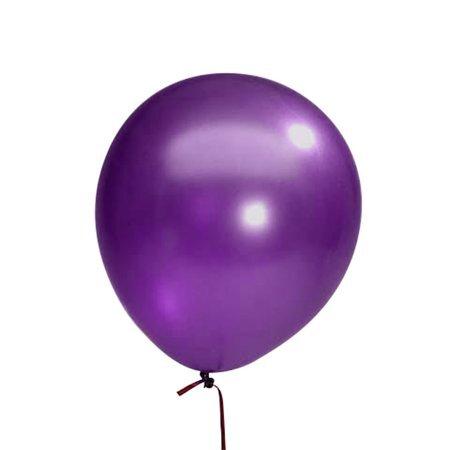 Балони металик в лилаво - 10 броя