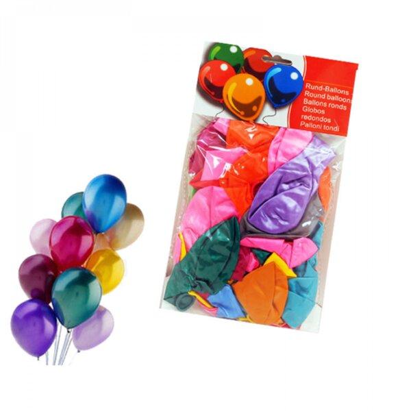 Балони - металик  / 50 броя - микс цветове /