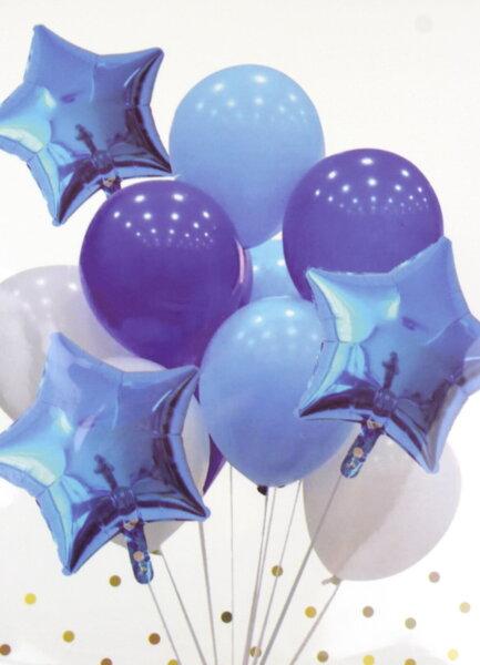 "Комплект Балони ""Звезди"" /10 броя/ - в синьо"