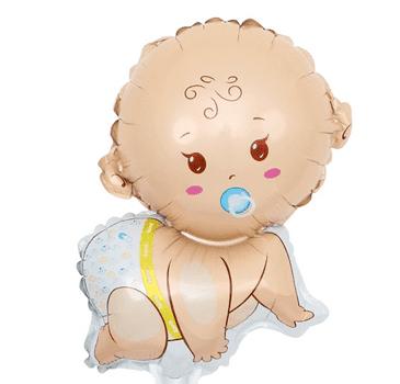 Балон новородено МОМЧЕ - фолиев джъмбо балон в син цвят