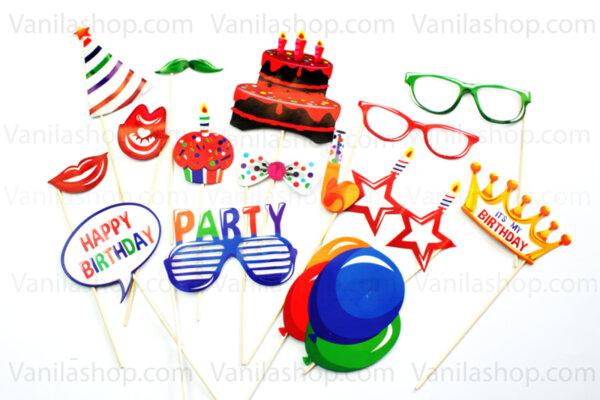 """Парти селфи стикове """" Happy Birthday """""""