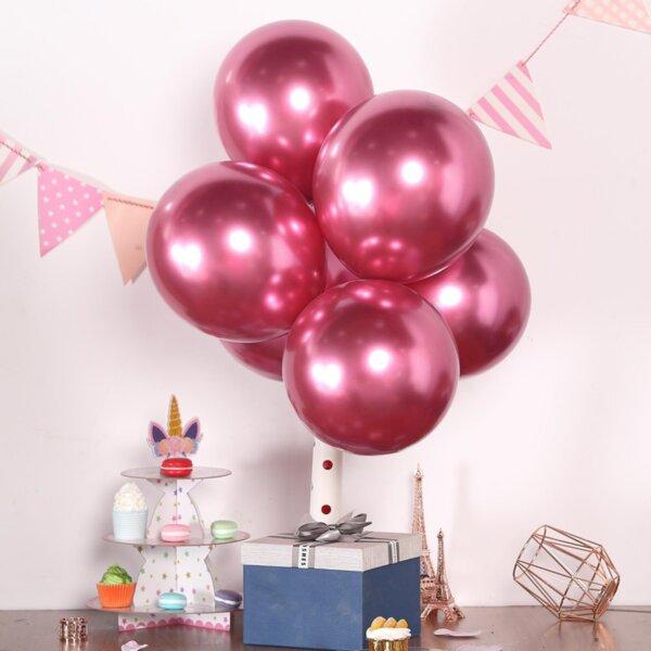 Балони Хром - Джъмбо /2 броя/- розови