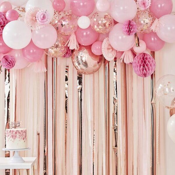 Арка от Балони и Украси Rose Gold & Peach