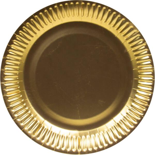 Парти чинии Злато /10 броя в опаковка/ - 18 см