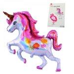 """Балон """"Еднорог""""  ( Unicorn)/фолио/.Размер в надут вид - 92 см. х 118 см."""