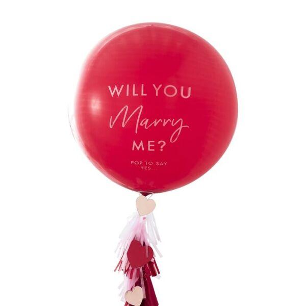 """Балон за предлагане на брак """" Will You Marry Me """""""