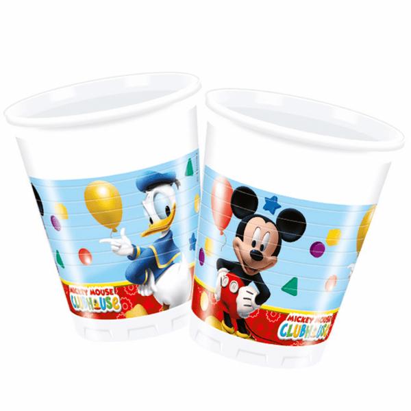 Парти чаши Мики Маус (Mickey Mouse) - 200 мл - 8 БРОЯ