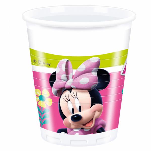 Парти чаши Мини Маус (Minnie Mouse) - 200 мл - 8 броя