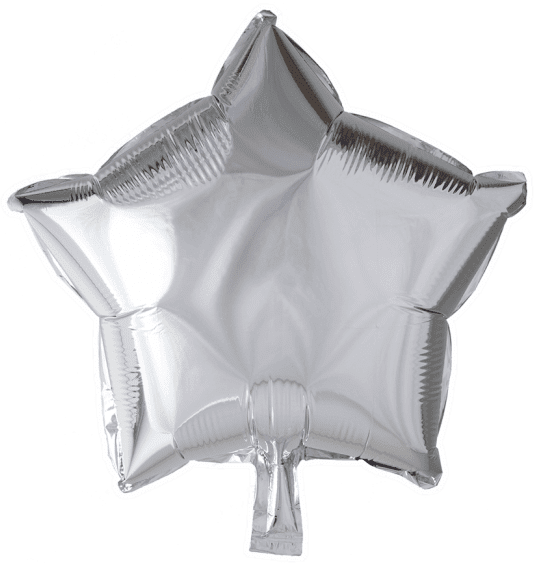 Балон Звезда 48 см - сребро