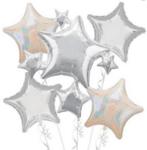 Балон Звезда 48 см - червен-Copy