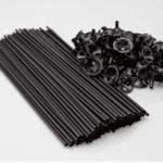 Дръжки за балони - черни - 40 см