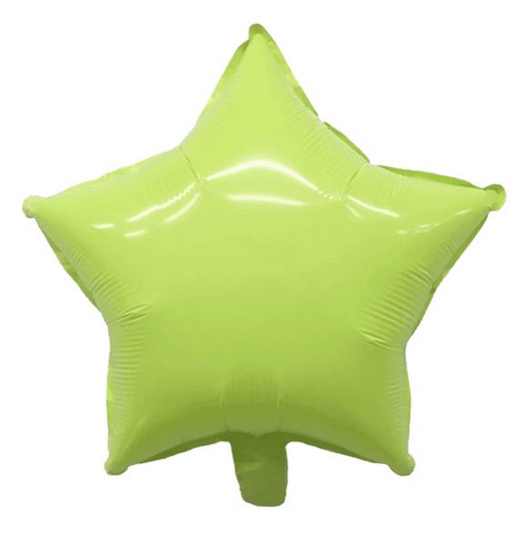 Балон Звезда Macaron зелен - 45 см