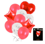 Комплект Балони Микс в червено - 10 броя