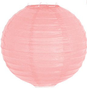 Фенер за парти декорация - 30 см в розово