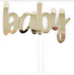 Tопер за торта BABY  - златен  - 15.2 см-Copy