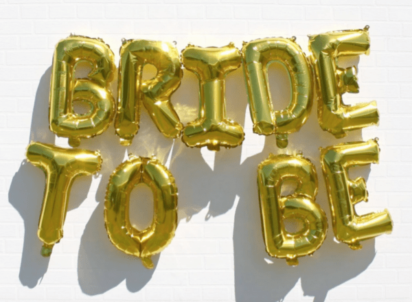 Bride To Be -  9 броя балони в  злато 3.40 метра  дължина