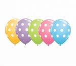 латексови балони с бели точки- 30 см - 5 броя-Copy