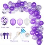 Огромна арка от лилави балони - 110 броя