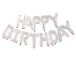 Балони прозрачни с цветни конфети - надпис Happy Birthday