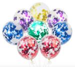Балони комплект с конфети микс цветове - 10 броя